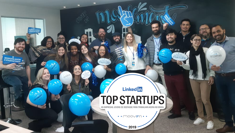 Mooven em 18º no LinkedIn Top Startups